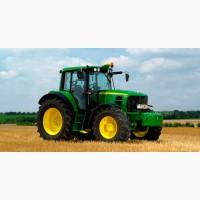 Проводим вспашку и культивацию импортными тракторами John Deere