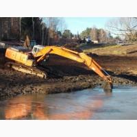 Копка и очистка водоемов и поливных каналов спецтехникой