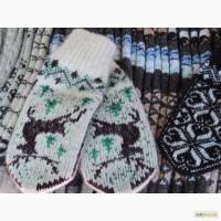 Стильные варежки ручной вязки из натуральной шерсти