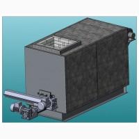 Топка твердопаливна, автоматичний зпалювач пеллет лущіння соняшника, 1500 кВт