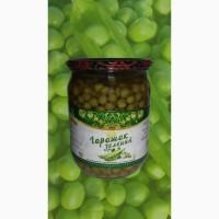 Горох зеленый консервированный, горошок консервований