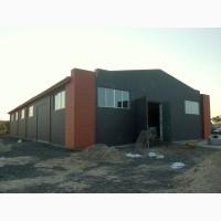 Ангари, сховища, гаражі, цехи, адмінбудівлі - металоконструкції, матеріали, монтаж
