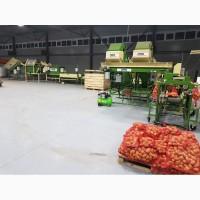 Комплекс линии оборудования для мойки, сухой очистки, сортировки, фасовки овощей картофеля