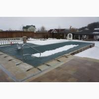 Защитное зимнее летнее накрытие тент батут для бассейнов