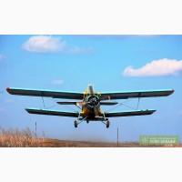 Внесение минеральных удобрений самолетами Ан-2