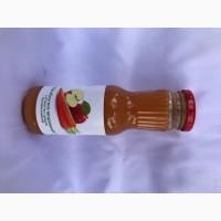 Сік яблучно-морквяний з м#039;якоттю з цукром пастеризований 0, 25л