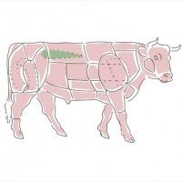 Блочное мясо говядины замороженное, Киев
