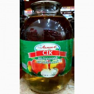 Сок яблочный ТМЛиман 3л