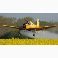 Внесение гербецидов самолетами Ан2 и Х32, вертолетами Ми2
