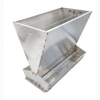 Бункерная кормушка для откорма 80 голов свиней от 20 до 140 кг (кс324), нержавейка