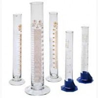 Стеклянные лабораторные со шкалою цилиндры. Обьем мл 10, 25, 50, 100, 250, 500, 1000, 2000