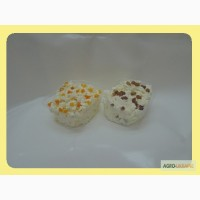 Маса творожна солодка 15,5% жирності з родзинками та курагою