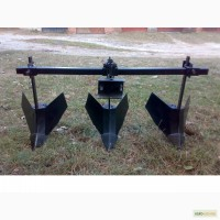 Окучники регулируемые на тройной сцепке + универсальная сцепка до мотоблока, минитрактора