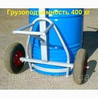 Візок для бочки меду - бочковоз на 400 кг. Посилена. Колеса з підкачкою. Apitherm
