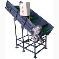 Вертикальный ленточный конвейер для овощей УПВ-1.20. Наклонный транспортер для овощей