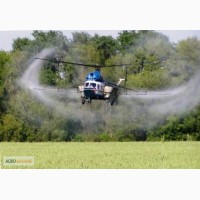Вертолет для обработки пшеницы