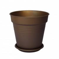 Горщик Глорія діаметр 11 см висота 10, 2 см Алеана в асортименті
