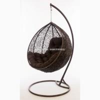 Стильное подвесное кресло-качель кокон