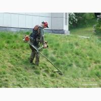 Покос травы.Покосить траву.Уборка участков
