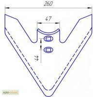 Лапа стрельчатая СЗС, ширина 260мм