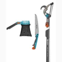 Набор садовых инструментов Gardena CombiSystem с телескопической ручкой 160-290 см