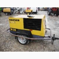 Компрессор винтовой дизельный передвижной Kaeser M25, 2004 г., 878 м/ч
