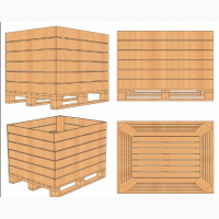 Контейнер деревяний для зберігання яблук