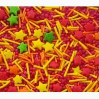 Пасхальная посыпка звездочки, шарики, палочки Микс 3