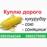 Куплю дорого сою, семечку, кукурузу