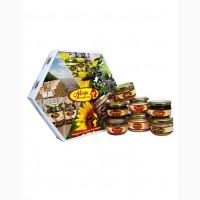 Подарунковий набір Асорті медової продукції 7 баночок