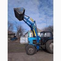 Фронтальний навантажувач, фронтальный погрузчик (КУН), навантажувач на трактор МТЗ