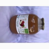Сік яблучний з м#039;якоттю з цукром стерилізований 3л