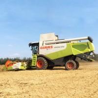 Уборка зерновых импортными комбайнами