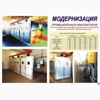 Инкубаторы промышленные, оборудование инкубаториев, инкубационные лотки, комплектующие